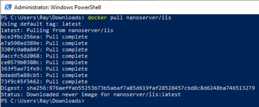 docker-iis-nanoserver-for-windows-container
